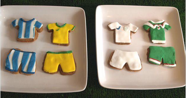 Футбольное печенье