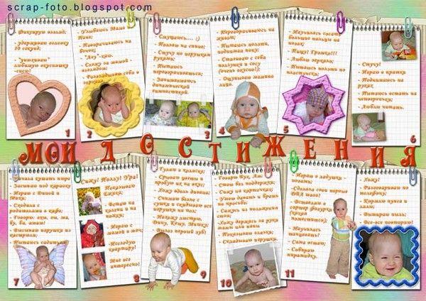 «календарь развития» вашей дочки.