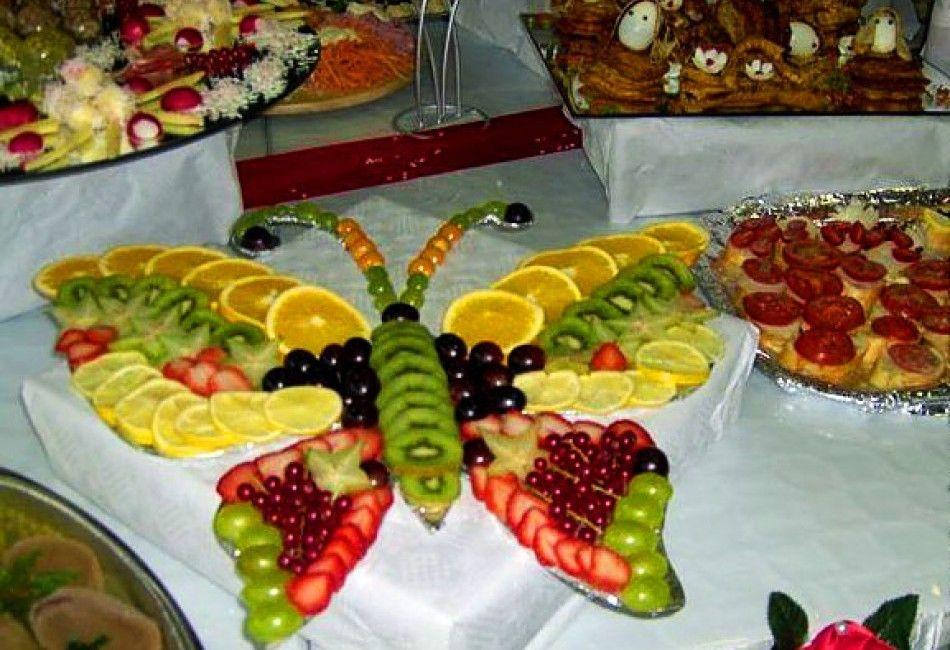Фото фрукты стол день рождение дети